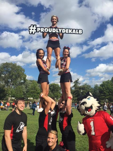 #ProudlyDeKalb Sign at NIU